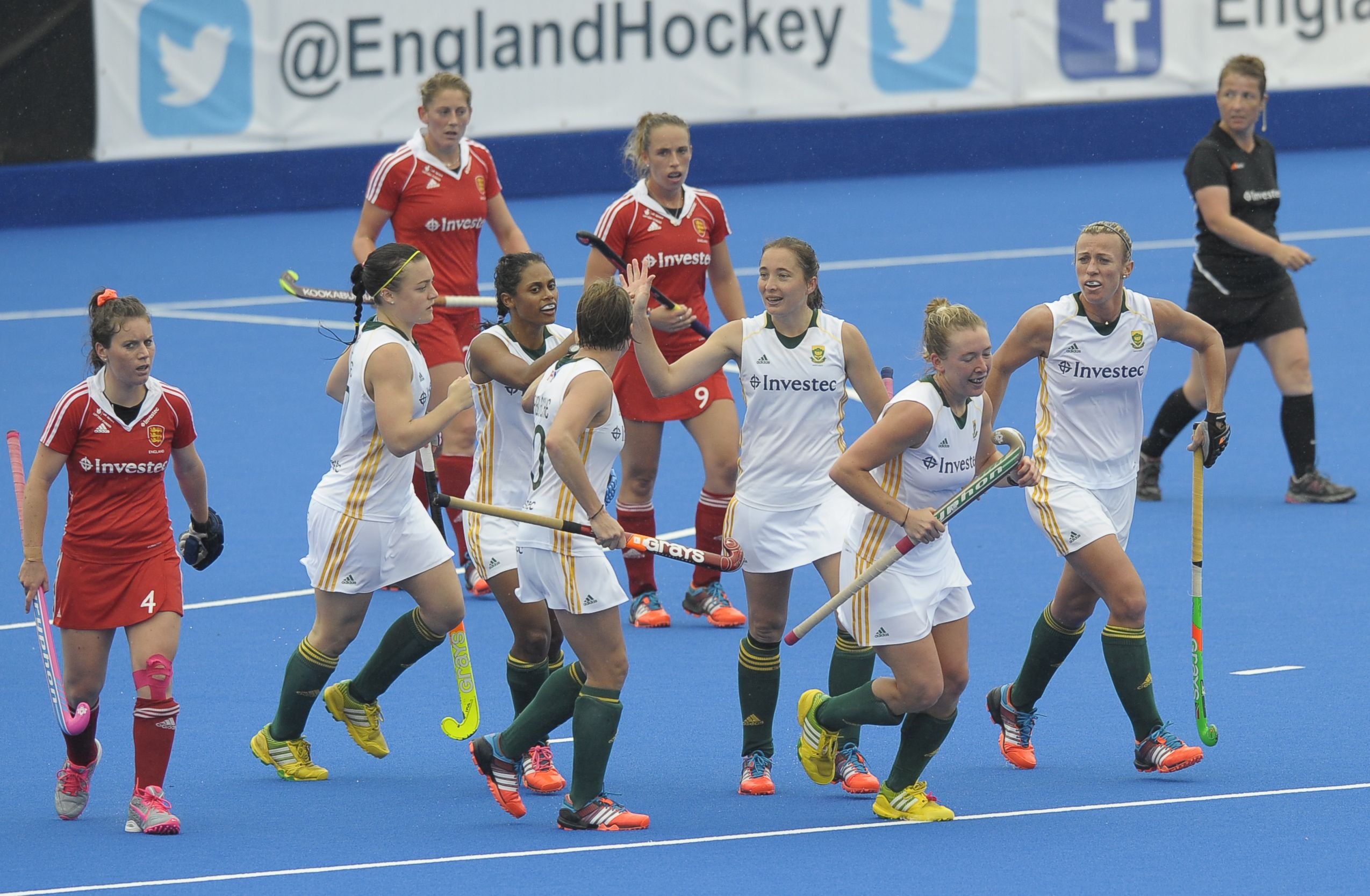 Hockey sides in double defeat to England in London
