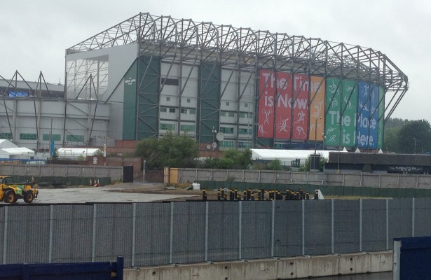 Celtic Park as seen from Team SA quarters in the Commonwealth Games village