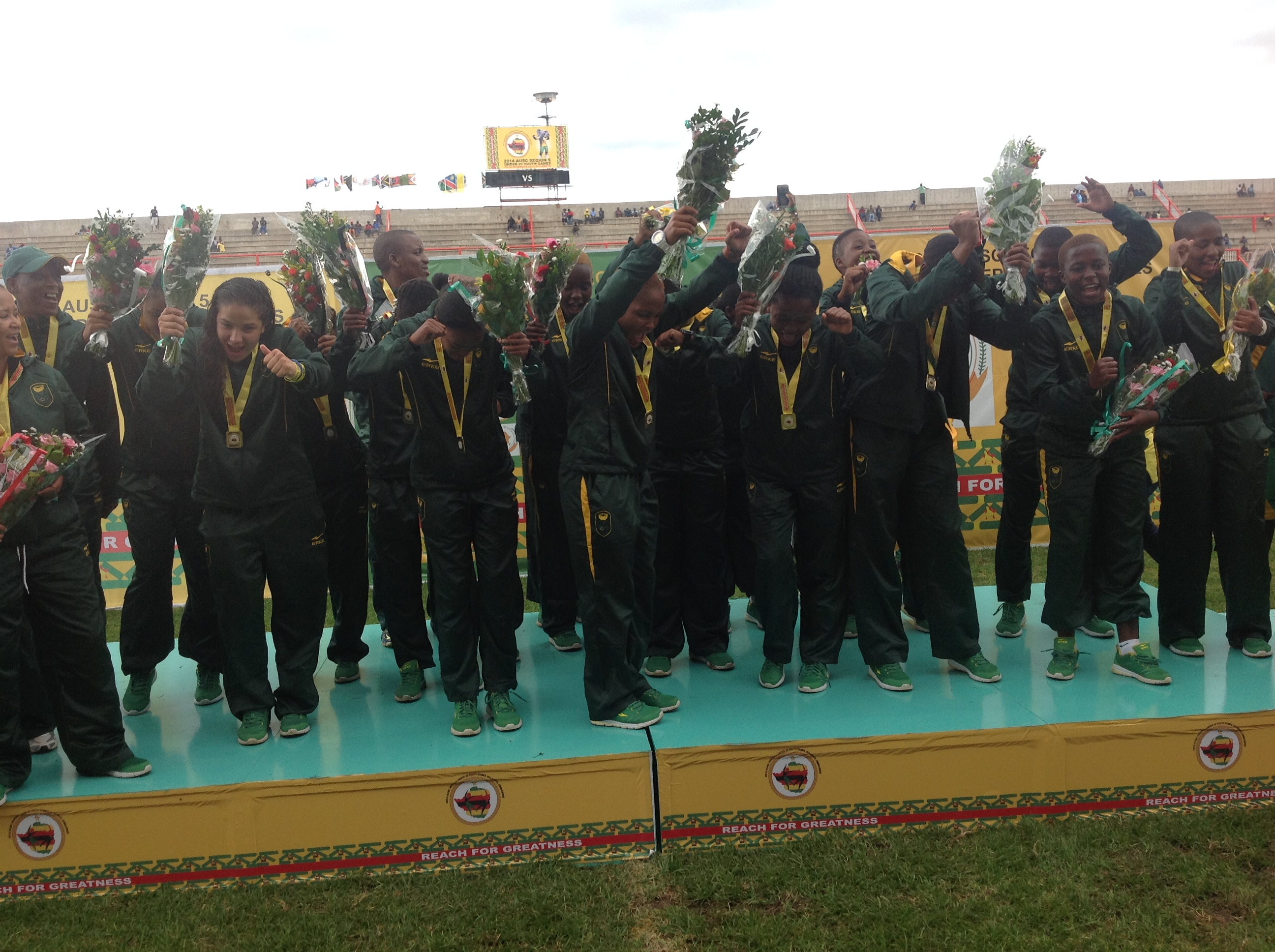 Six of the best as football girls grab Games gold for SA
