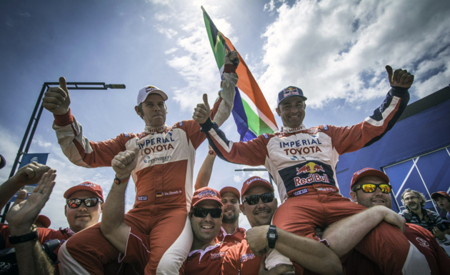 De Villiers drives to second spot in Dakar Rally