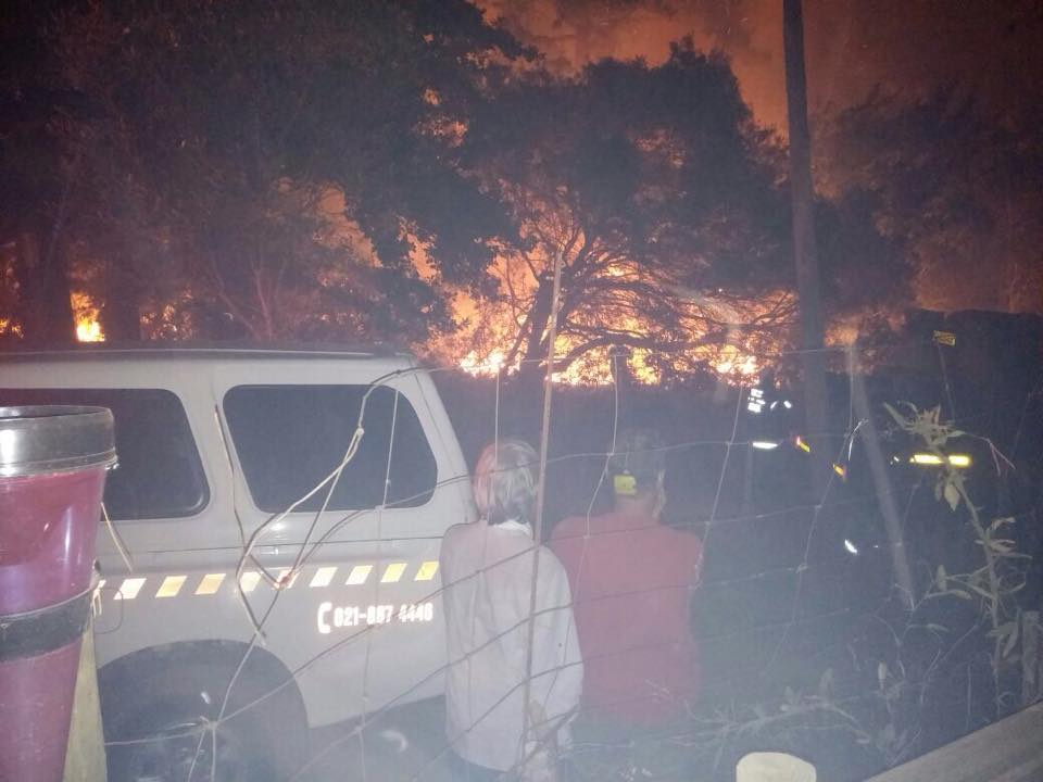 Second para-cyclist evacuates after raging Cape fires