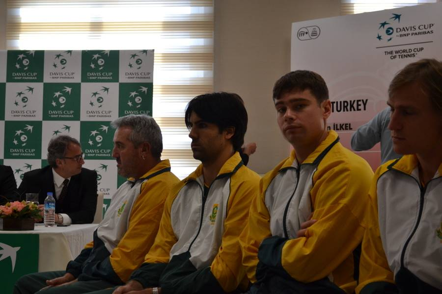 Davis Cup all square between SA and Turkey