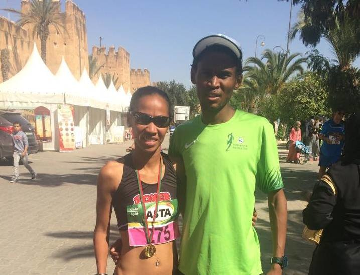 Conrad dashes to a personal best 10km in the desert.
