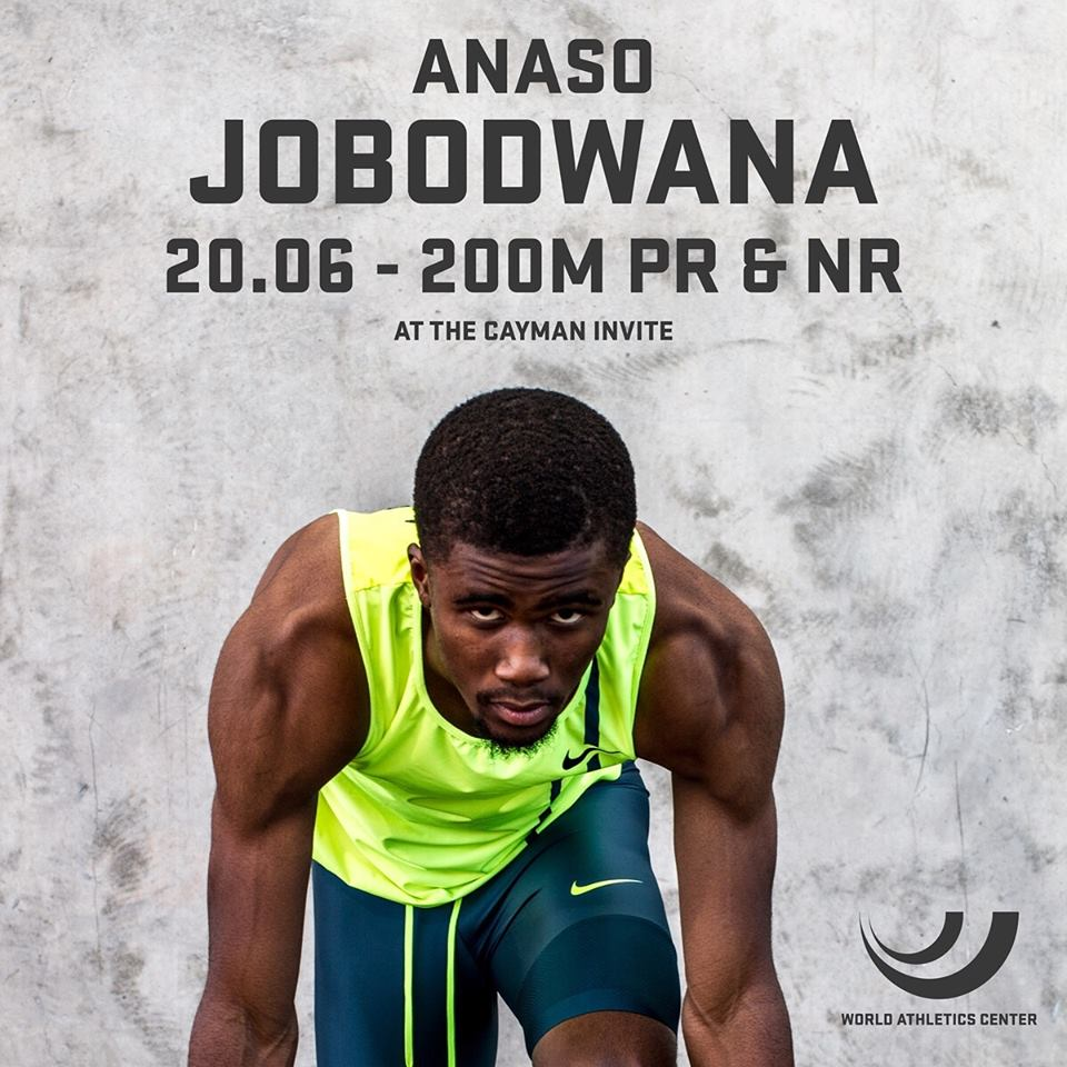 Jobodwana adds to SA athletics delight with a new sprint record