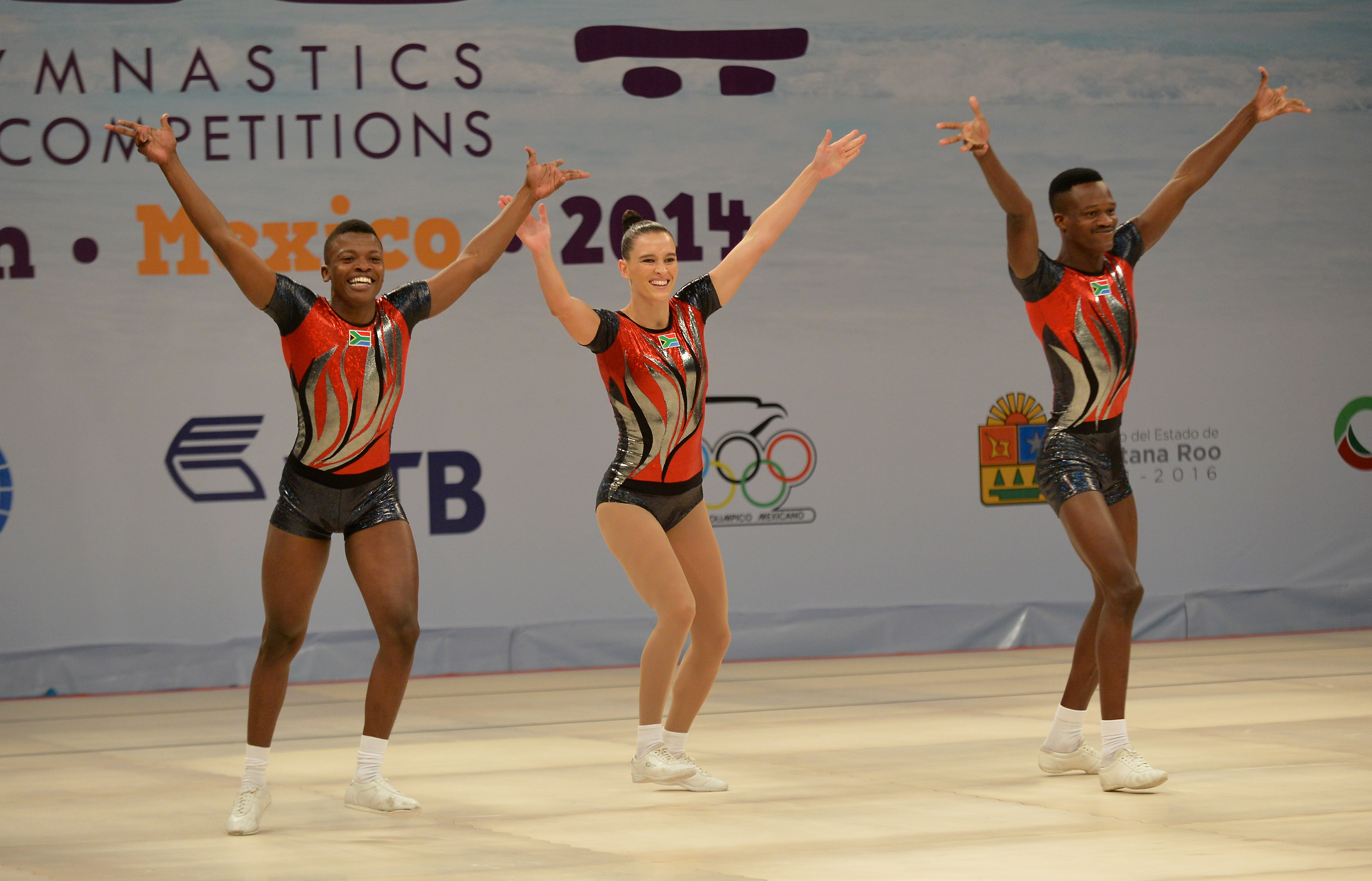 Aerobic trio get top 10 finish at World Cup event