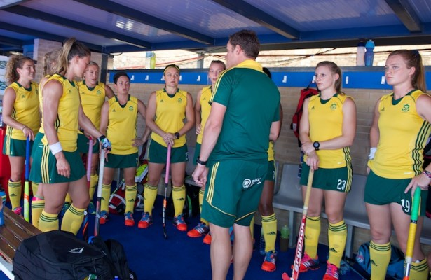 team RSA before the match