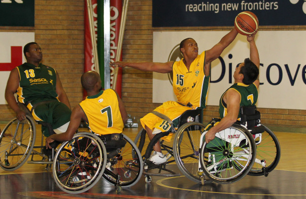 left to right  Jack Mokgotsi(yellow) and Ohn Aye-Htun(green) during Gold team and Green team prictise match, mandeville club, Johannesburg, Gauteng Province, South Africa, Photo by Abbey Sebetha / Bakonepix