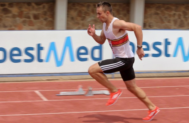 PRETORIA, SOUTH AFRICA – MARCH 07: LJ van Zyl in action during the Gauteng North League Athletics Meeting on March 07, 2015 at the LC de Villiers Stadium in Pretoria, South Africa. (Photo by Reg Caldecott/Gallo Images)