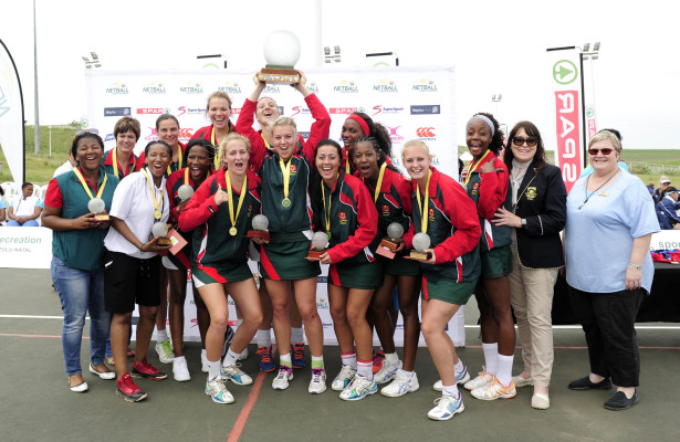 North West emerged as Senior Champions of the SPAR National Netball Championship at Ugu Sports Complex, Margate, KZN on 24 August 2015. North West beat Gauteng 28 -14 in the final. Photographer: Gerhard Duraan