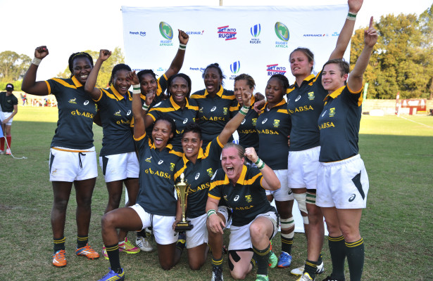 2015 Ladies Rugby Sevens Olympic Qualifier fir Rio 2016.Saturday 26 September 2015. Barnard Stadium, Kempton Park. Cup Final South Africa vs Kenia  Photo by: Catherine Kotze/SASPA