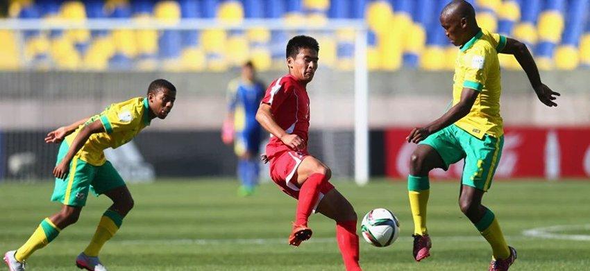 Mukumela's spot-kick sees Amajimbos draw with Korea in Chile