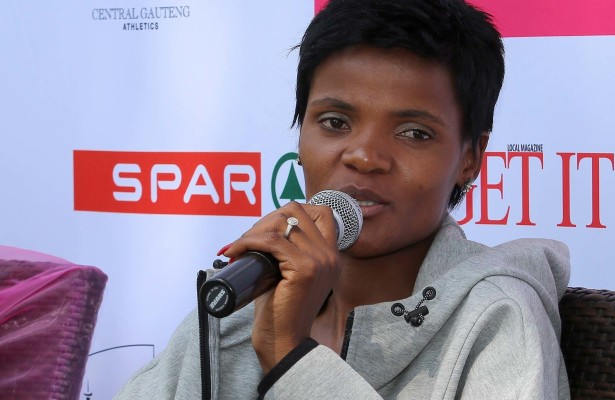 JOHANNESBURG, SOUTH AFRICA -SEPTEMBER 08: 2014 winner, Lebogang Phalula takes part in a panel discussion during the SPAR Netball Challenge launch at Buitengeluk on September 08, 2015 in Johannesburg, South Africa. (Photo by Reg Caldecott/Gallo Images)