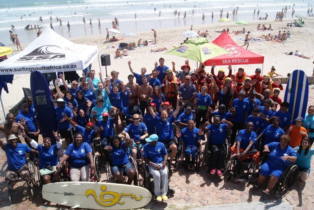 Big day for Adapted Surfing at Bloubergstrand