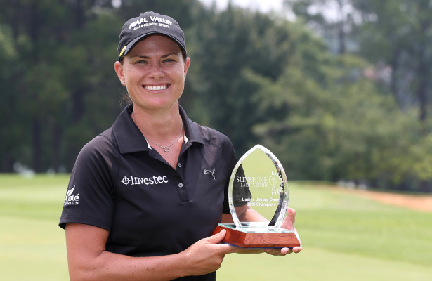 JOHANNESBURG, SOUTH AFRICA - JANUARY 20: Lee-Anne Pace during day 3 of the 2016 Joburg Ladies Open at Royal Johannesburg and Kensington Golf Course on January 20, 2016 in Johannesburg, South Africa. EDITOR'S NOTE: For free editorial use. Not available for sale. No commercial usage. (Photo by Carl Fourie/Sunshine Tour/Gallo Images)