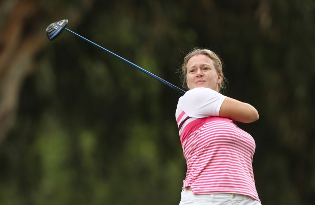 JOHANNESBURG, SOUTH AFRICA - JANUARY 26: Rebecca Hudson during day 2 of the Ladies Chase to Investec Cup at Houghton Golf Club on January 26, 2016 in Johannesburg, South Africa. EDITOR'S NOTE: For free editorial use. Not available for sale. No commercial usage. (Photo by Luke Walker/Sunshine Tour/Gallo Images)