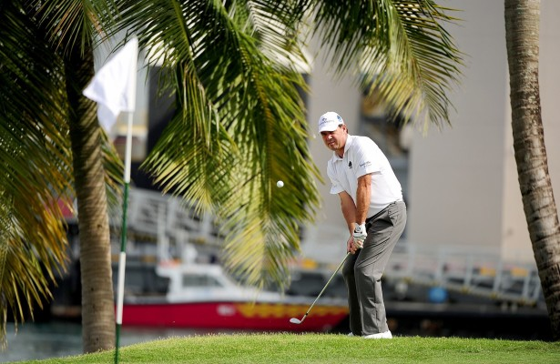 SINGAPORE- Keith Horne of South Africa pictured during the first round on Thursday January 28, 2016, ahead of The SMBC Singapore Open at the Sentosa Golf Club, Serapong Course, Singapore. The US$ 1 Million event is co-sanctioned between the Asian Tour and Japan Golf Tour Organization, January 28 - 31, 2016. Picture by Khalid Redza / Lagardre Sports.