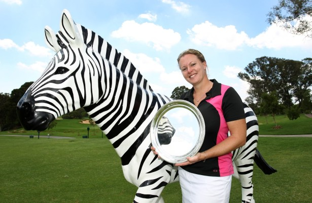 JOHANNESBURG, SOUTH AFRICA - JANUARY 27: Rebecca Hudson during day 3 of the Ladies Chase to Investec Cup at Houghton Golf Club on January 27, 2016 in Johannesburg, South Africa. EDITOR'S NOTE: For free editorial use. Not available for sale. No commercial usage. (Photo by Luke Walker/Sunshine Tour/Gallo Images)