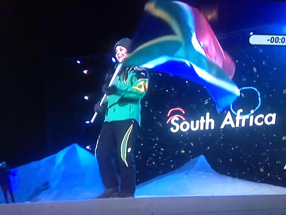 Olivier flies SA flag at Winter Youth Olympics in Norway