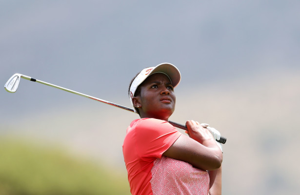 NORTH WEST, SOUTH AFRICA - FEBRUARY 24: Nobuhle Dlamini during day 1 of the 2016 Sun International Ladies Challenge at Gary Player Country Club on February 24, 2016 in North West, South Africa. EDITOR'S NOTE: For free editorial use. Not available for sale. No commercial usage. (Photo by Carl Fourie/Sunshine Tour/Gallo Images)