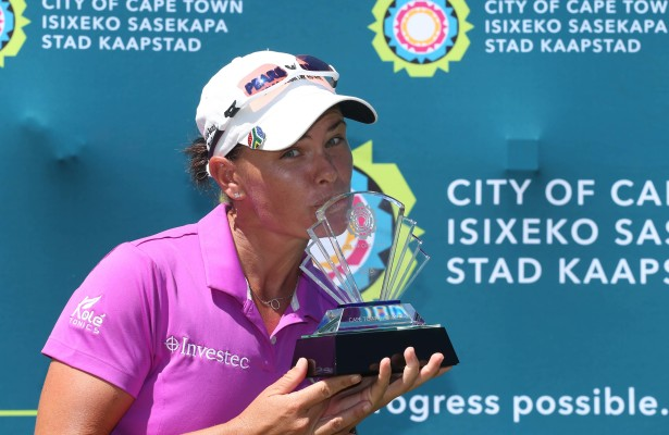 CAPE TOWN, SOUTH AFRICA - FEBRUARY 12: Lee-Anne Pace during day 3 of the 2016 Ladies Cape Town Open at Royal Cape Golf Club on February 12, 2016 in Cape Town, South Africa. EDITOR'S NOTE: For free editorial use. Not available for sale. No commercial usage. (Photo by Carl Fourie/Sunshine Tour/Gallo Images)