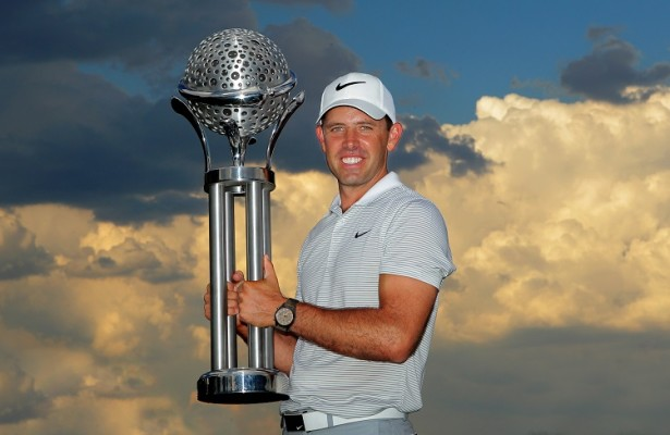 PRETORIA, SOUTH AFRICA - FEBRUARY 14: Charl Schwartzel during the trophy presentation during day 4 of the 2016 Tshwane Open at Pretoria Country Club on February 14, 2016 in Pretoria, South Africa. EDITOR'S NOTE: For free editorial use. Not available for sale. No commercial usage. (Photo by Petri Oeschger/Sunshine Tour/Gallo Images)