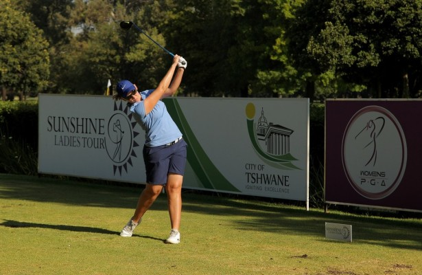 PRETORIA, SOUTH AFRICA - FEBRUARY 03: Ashleigh Simon during day 2 of the Ladies Tshwane Open at Zwartkop Country Club on February 03, 2016 in Pretoria, South Africa. EDITOR'S NOTE: For free editorial use. Not available for sale. No commercial usage. (Photo by Petri Oeschger/Sunshine Tour/Gallo Images)