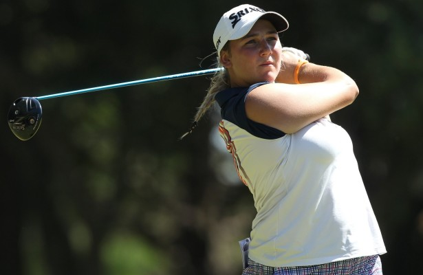 CAPE TOWN, SOUTH AFRICA - FEBRUARY 10: Ivanna Samu (AMA) during day 1 of the 2016 Ladies Cape Town Open at Royal Cape Golf Club on February 10, 2016 in Cape Town, South Africa. EDITOR'S NOTE: For free editorial use. Not available for sale. No commercial usage. (Photo by Luke Walker/Sunshine Tour/Gallo Images)