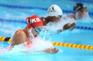 DURBAN, SOUTH AFRICA, February 6 2016 - Tatjana Schoenmaker Women 50m  LC Breaststroke during Day 3  the second leg of the 2016 South African Swimming Grand Prix series at the  Kings Park Swimming Pool Durban South Africa. (Photo by Steve Haag) Images for social media must have consent from Steve Haag
