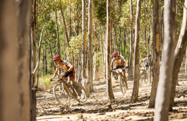 Ariane Kleinhans (R) and Annika Langvad (L) during stage 3 of the 2016 Absa Cape Epic Mountain Bike stage race held from Saronsberg Wine Estate in Tulbagh to the Cape Peninsula University of Technology in Wellington, South Africa on the 16th March 2016  Photo by Sam Clark/Cape Epic/SPORTZPICS  PLEASE ENSURE THE APPROPRIATE CREDIT IS GIVEN TO THE PHOTOGRAPHER AND SPORTZPICS ALONG WITH THE ABSA CAPE EPIC  {ace2016}