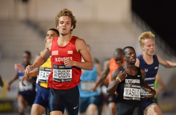 CAPE TOWN, SOUTH AFRICA - MARCH 22: Rynardt van Rensburg in the mens 800m during the ASA Night Series at Green Point Athletics Stadium on March 22, 2016 in Cape Town, South Africa. (Photo by Roger Sedres/Gallo Images)
