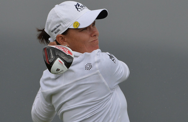 GEORGE, SOUTH AFRICA - FEBRUARY 20: Lee-Anne Pace during day 2 of the Ladies Tour Dimension Data Challenge at Kingswood Golf Course on February 20, 2016 in George, South Africa. EDITOR'S NOTE: For free editorial use. Not available for sale. No commercial usage. (Photo by Thinus Marnitz/Sunshine Tour/Gallo Images)