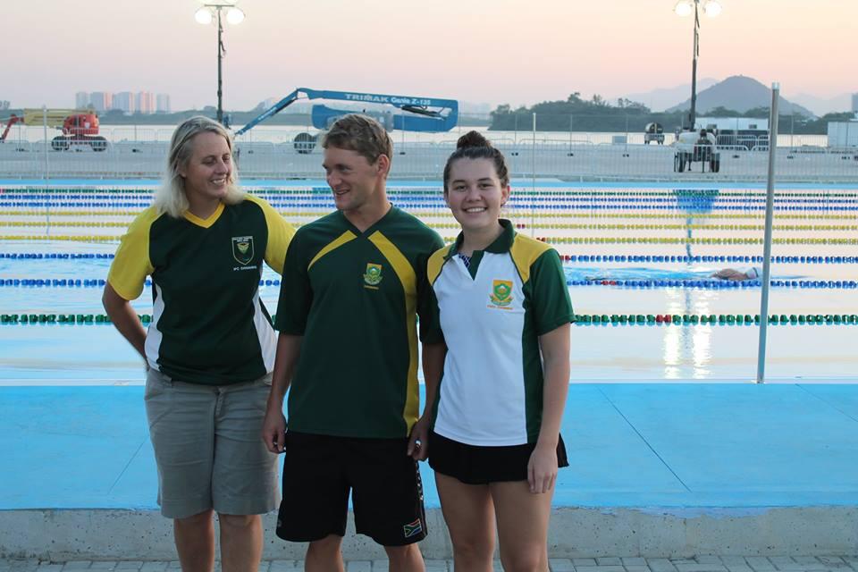 SA swim trio in Rio Test event action