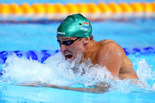 GLASGOW, SCOTLAND - JULY 25:  Sebastien Rousseau of South Africa competes in the Men's 400m Individual Medley Final at Tollcross International Swimming Centre during day two of the Glasgow 2014 Commonwealth Games on July 25, 2014 in Glasgow, Scotland.  (Photo by Quinn Rooney/Getty Images)
