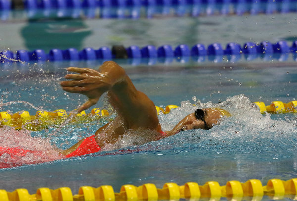 DURBAN, SOUTH AFRICA - APRIL 12: Karin Prinsloo during the finals session on day 3 of the SA National Aquatic Championships and Olympic Trials on April 12 , 2016 at the Kings Park Aquatic Center pool in Durban, South Africa. Photo Credit / Anesh Debiky/Swim SA