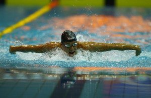 DURBAN, SOUTH AFRICA - APRIL 10: Sebastien Rousseau Men 400m LC individual medley during day 1 of the SA National Aquatic Championships 2016 at Kings Park Aquatic Centre on April 10, 2016 in Durban, South Africa. (Photo by Steve Haag/Gallo Images)