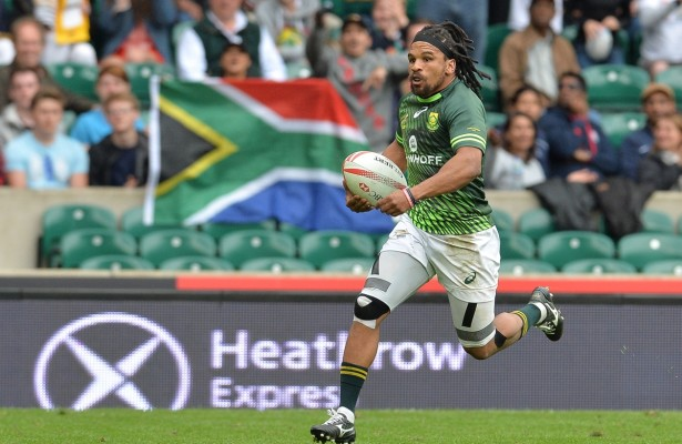 LONDON, ENGLAND - MAY 22: Rosko Specman of South Africa during the cup final match between South Africa and Scotland on day 2 of the HSBC World Rugby Sevens Series London at Twickenham Stadium on May 22 in London, South Africa. (Photo by Roger Sedres/Gallo Images)