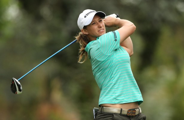 JOHANNESBURG, SOUTH AFRICA - JANUARY 25: Stacy Bergman during day 1 of the Ladies Chase to Investec Cup at Houghton Golf Club on January 25, 2016 in Johannesburg, South Africa. EDITOR'S NOTE: For free editorial use. Not available for sale. No commercial usage. (Photo by Luke Walker/Sunshine Tour/Gallo Images)
