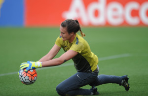 Roxanne Barker of South Africa during the International Women Friendly match between Netherlands and South Africa on 07 June 2016 at Mandemakers Stadium Pic Sydney Mahlangu/ BackpagePix