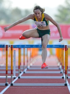 DURBAN, SOUTH AFRICA - JUNE 23: Claudia Heunis of South Africa wins the women's 100m hurdles during the afternoon session on day 2 of the CAA 20th African Senior Championships at Kings Park Athletic stadium on June 23, 2016 in Durban, South Africa. (Photo by Roger Sedres/Gallo Images)