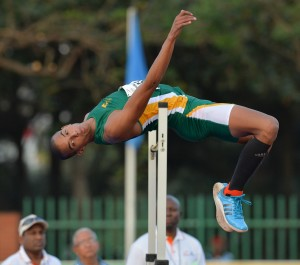DURBAN, SOUTH AFRICA - JUNE 24: Keagan Fourie of South Africa in the mens high jump during the afternoon session of day 3 of the CAA 20th African Senior Championships at Kings Park Athletic stadium on June 24, 2016 in Durban, South Africa. (Photo by Roger Sedres/Gallo Images)