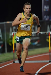 DURBAN, SOUTH AFRICA - JUNE 24: LJ van Zyl of South Africa in the mens 400m hurdles final during the afternoon session of day 3 of the CAA 20th African Senior Championships at Kings Park Athletic stadium on June 24, 2016 in Durban, South Africa. (Photo by Roger Sedres/Gallo Images)