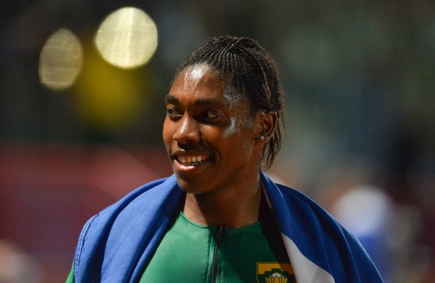 DURBAN, SOUTH AFRICA - JUNE 24: Caster Semenya of South Africa after winning the women's 1500m final during the afternoon session of day 3 of the CAA 20th African Senior Championships at Kings Park Athletic stadium on June 24, 2016 in Durban, South Africa. (Photo by Roger Sedres/Gallo Images)