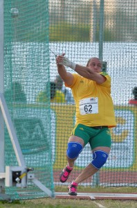 DURBAN, SOUTH AFRICA - JUNE 25: Chris Harmse of South Africa in the mens hammer throw during the afternoon session on day 4 of the CAA 20th African Senior Championships at Kings Park Athletic stadium on June 25, 2016 in Durban, South Africa. (Photo by Roger Sedres/Gallo Images)