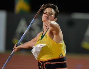 DURBAN, SOUTH AFRICA - JUNE 25: Sunette Viljoen of South Africa in the women's javelin during the afternoon session on day 4 of the CAA 20th African Senior Championships at Kings Park Athletic stadium on June 25, 2016 in Durban, South Africa. (Photo by Roger Sedres/Gallo Images)