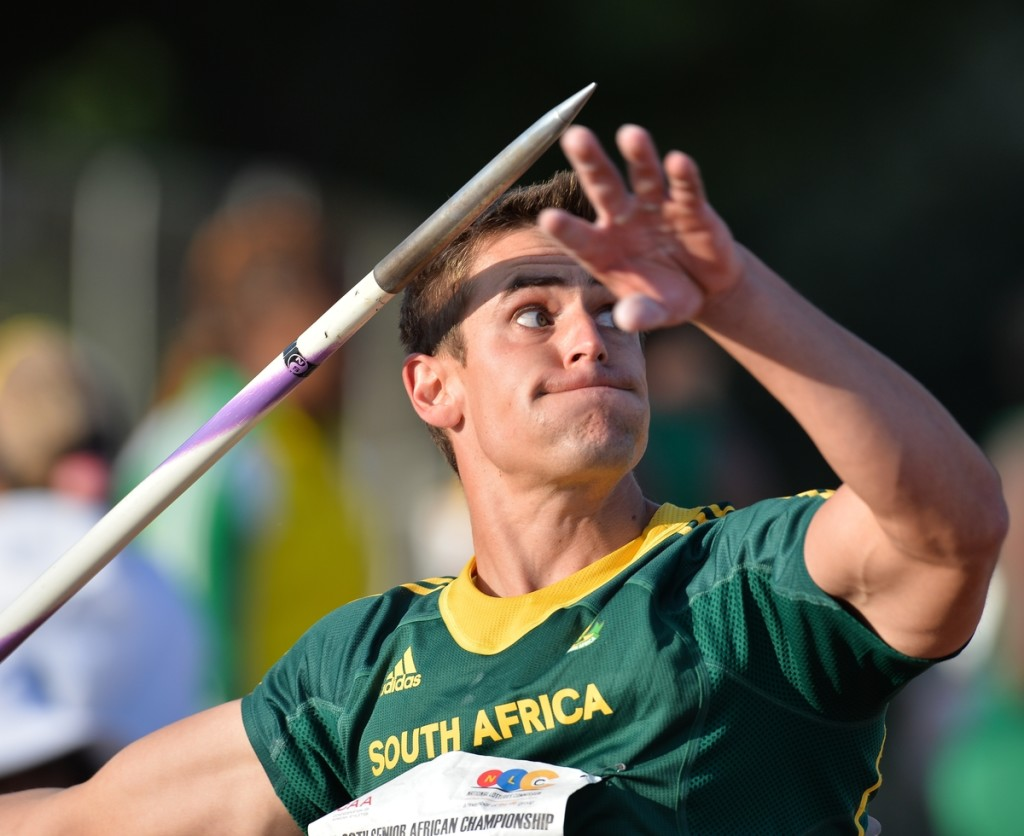 DURBAN, SOUTH AFRICA - JUNE 26: Philmar van Rensburg of South Africa in the mens javelin during the afternoon session on day 5 of the CAA 20th African Senior Championships at Kings Park Athletic stadium on June 26, 2016 in Durban, South Africa. (Photo by Roger Sedres/Gallo Images)