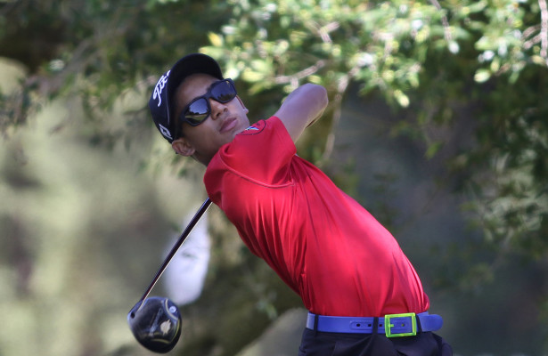 CAPE TOWN, SOUTH AFRICA - Wednesday 8 March 2016, Cole Stevens tees off on the 2nd during the 1st Round of the Curro SA Juniors International at the Durbanville Golf Club.  Photo by Shaun Roy/ImageSA