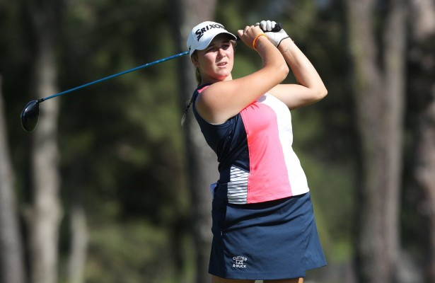 CAPE TOWN, SOUTH AFRICA - FEBRUARY 12: Ivanna Samu (AMA) during day 3 of the 2016 Ladies Cape Town Open at Royal Cape Golf Club on February 12, 2016 in Cape Town, South Africa. EDITOR'S NOTE: For free editorial use. Not available for sale. No commercial usage. (Photo by Luke Walker/Sunshine Tour/Gallo Images)
