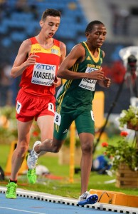 BYDGOSZCZ, POLAND - JULY 19: Kabelo Melamu of South Africa in the mens 10000m final during the afternoon session on day 1 of the IAAF World Junior Championships at Zawisza Stadium on July 19, 2016 in Bydgoszcz, Poland. (Photo by Roger Sedres/Gallo Images)