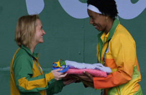 RIO DE JANEIRO, BRAZIL. 29 JULY 2016. Jean Kelly Deputy Chef de Mission of Team SA during the flag raising ceremony of Team SA in the International Zone of the Athletes Village of the Rio 2016 Olympic Games this afternoon.   Copyright picture by WESSEL OOSTHUIZEN / SASPA