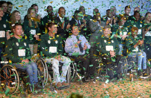SANDTON, SOUTH AFRICA. 19 JULY 2016. The South African Sports Confederation and Olympic Committee (Sascoc), announced a star-studded team to represent South Africa at the 2016 Paralympics Games in Rio de jneiro from 7 - 18 September. The announcement wa made at the Nedbank Head Office in Sandton. The names of the 45 athletes were revealed.  Copyright picture by WESSEL OOSTHUIZEN / SASPA